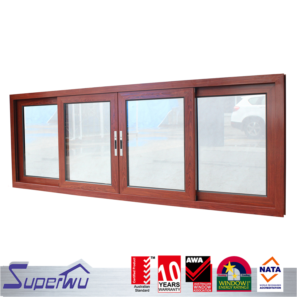 china supplier cheap Triple Glazed wooden color Aluminum sliding Window
