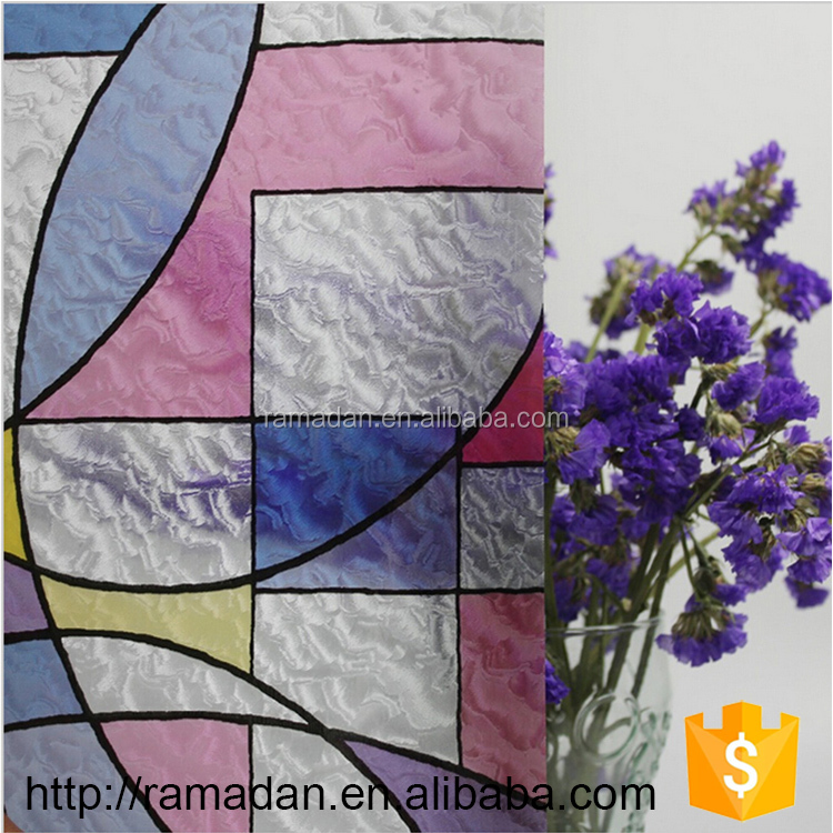China OEM decorative window film printing Non-glue 2D/3D glass protective film static cling window film that changes color