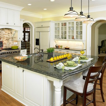 Verde butterfly granite countertop and dining table with low price