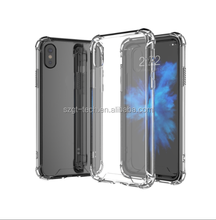 crystal clear soft tpu back case tpu case for iPhone x,mobile phone shell,shockproof case for iphone x