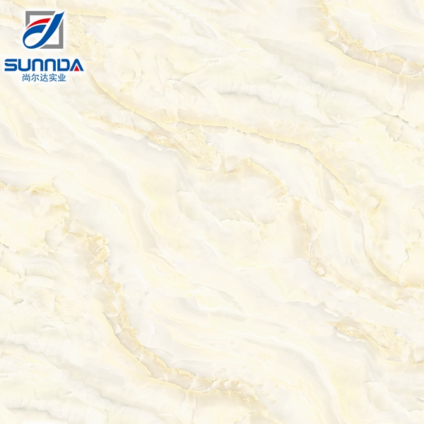 Sunnda marble design glazed polished porcelain tile, Nano polished finish mirror tiles,vitrified tile in China