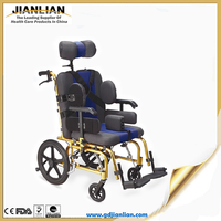 JL cerebral palsy wheelchair with comfortable seat and safety belt JL9030L