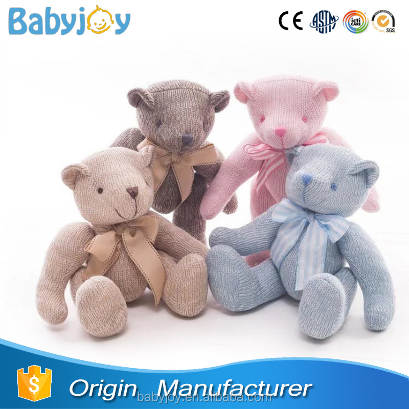 Custom Stuffed Animals Knitted Teddy Bear