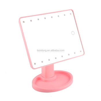 new arrival led touch screen makeup mirror with 21 led makeup mirror with 10x magnifying makeup mirror