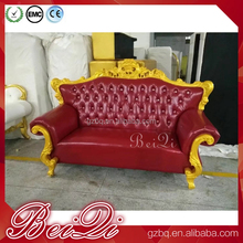 Newest King Salon Furniture Waiting Sofa Waiting Area Chairs Royal Reception Waiting Bench