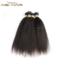 AISI HAIR darling hair products ebony italian light yaki curl straight braiding brazilian human hair weave extensions