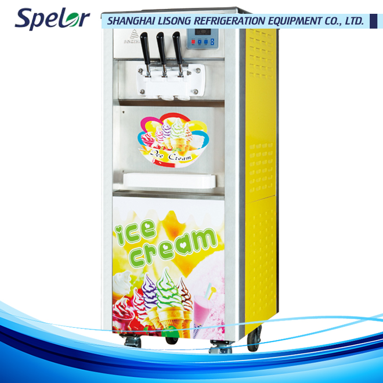 Well-serviced cone ice cream maker