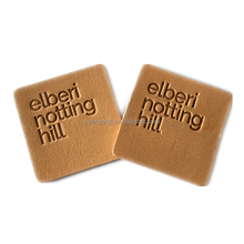 Sew on PU Custom Printed Embossing Leather Labels with Logo for Garment and Fashion Accessory