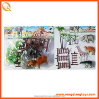 Hot selling plastic forest animals toys with fence AN9368110