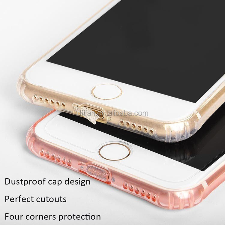 Top Selling Ultra-thin Transparent TPU Non-slip Cover for Mobile Case for iPhone7