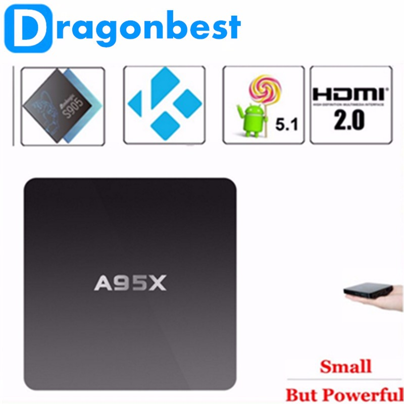 Hot selling A95X 1G 8G Android 5.1 Amlogic S905 TV Box android tv stick