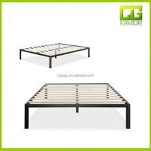 Wooden Slat Support Modern Studio 14 Inch Platform 1500 Metal Bed Frame