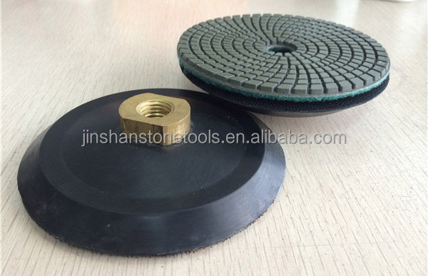 JS Resin polishing pads Rubber Hook and Loop Holder