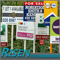 Colorful printing sign available in recycle and high quality corflute plastic yard signs