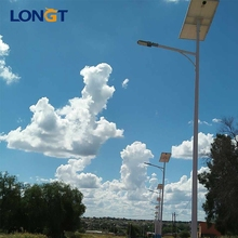 Safe and secure integrated 9m pole solar street powered light