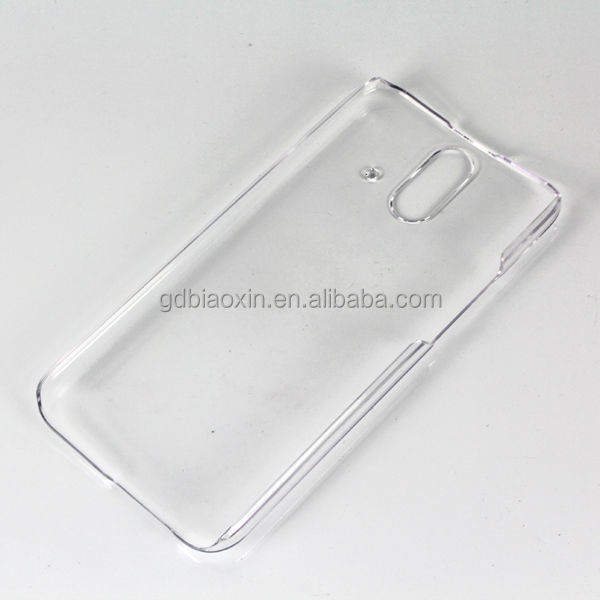 Newest product clear crystal case for HTC E8, cell phone cover for HTC M8 ACE.