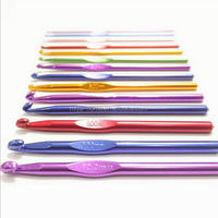 High quality color Aluminum Crochet Hooks Needles Knit Weave Craft Yarn Sewing Tools