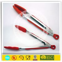Heat Resistant Silicone Food Tongs Kitchen Tongs ,Silicone Function of food tongs