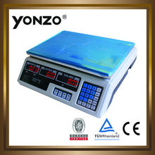 40kg LED or LCD display electronic price computing digital weighing scales bench scale small scale mining equipment