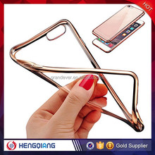 New arrival product fashion simple style cell phone plated tpu gold case for iphone 5