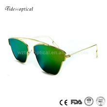 2017 new fashion rimless mirror sunglasses
