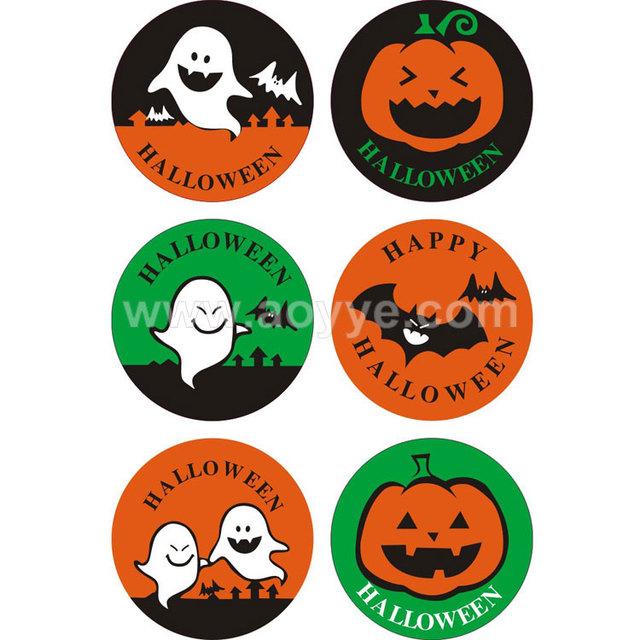2018 new round stickers color diy Halloween pumpkins decoration seal sticker