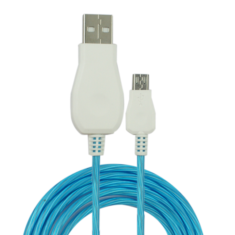 Flowing LED Glow Micro USB Charging Data Sync Cable for Smart Phone