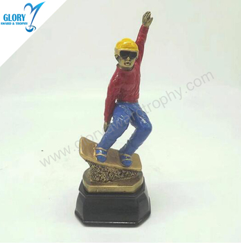 Colorful Resin Man Of Ice Hockey Trophy And Award