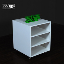 Decor reception area wooden movable cabinet bedroom storage bags documents drawer file cabinet with wheels