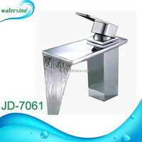New guangzhou chrome plated h59 brass water fall faucet JD-7061