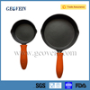 Cast Iron Fry Pan Set With Silicone Hot Handle Holder
