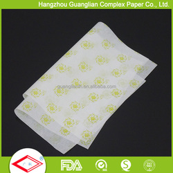 Food Grade Grease Proof Sandwich Burger Wrap Paper Printed Parchment Paper Flexo Printing Available