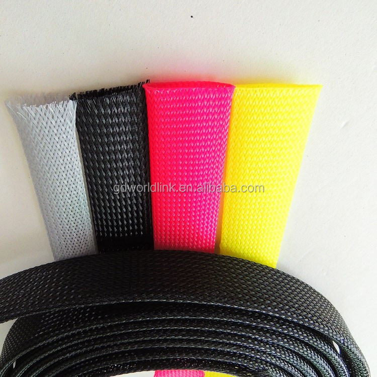UV and flame resistant 16mm braided flexible cable sleeving