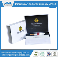 custom luxury rigid paper white magnetic box cigarette packaging