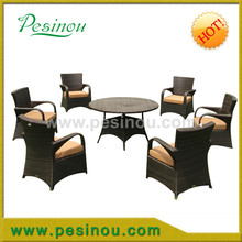 Durable PVC rattan stackable outdoor armchair rattan outdoor furniture