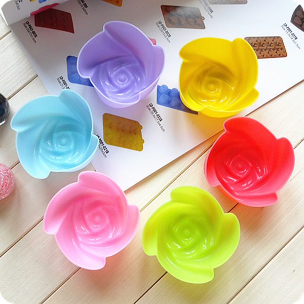 Different Size Silicone Cake Mold Rose Shape 7cm, 5cm, 3cm