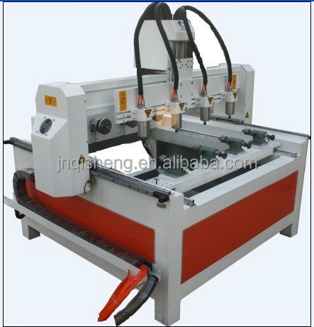QS hot sale rotary axis italy air cooling hsd spindle 3d cnc router machine