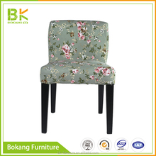 Modern Wooden Legs Fabric Dining Chair Cafe Leisure Wood Dining Chair For Restaurant