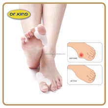 Comfortable health care gel bunion pad toe separator