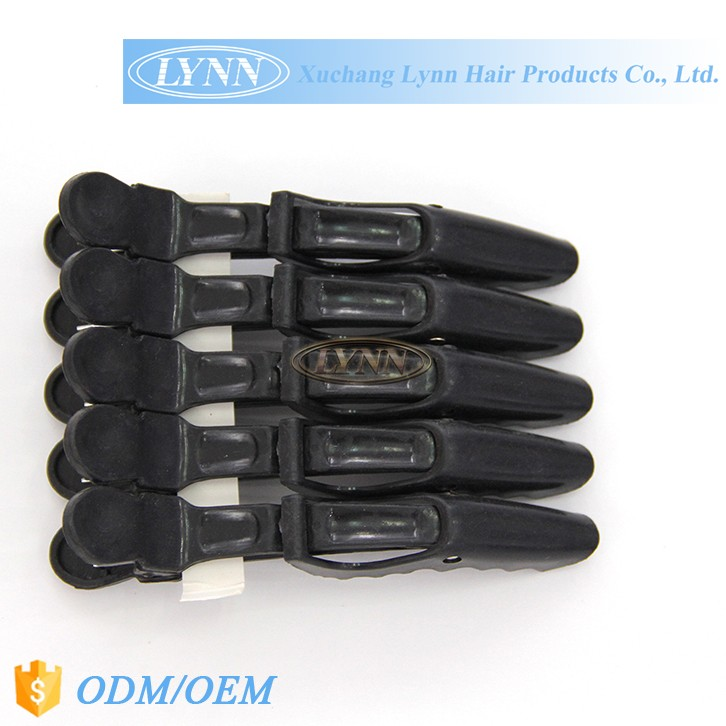 Colorful plastic hair cutting clip rubber hair clip