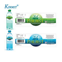 Kinmit Factory Custom Mineral Water Bottle Printing Label
