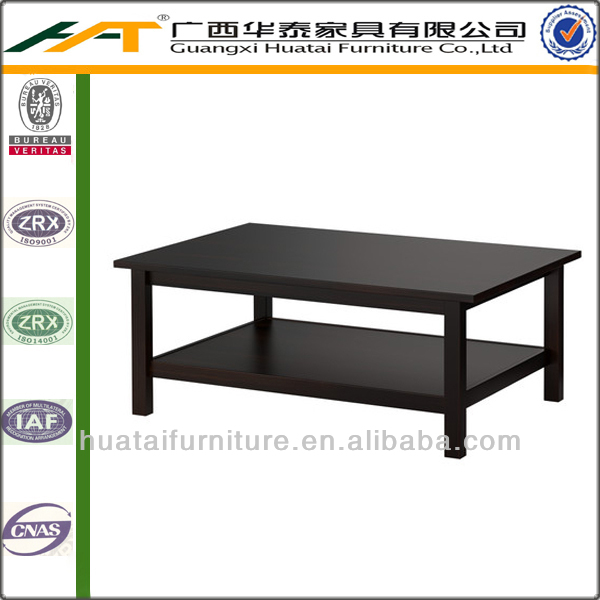 Simple cheap tea table MDF black tea table 2 ladder homemade coffee table