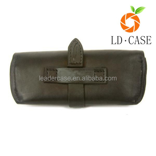 Real Photo Handmade leather cases sunglasses cases embossed logo