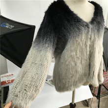 Wholesale Women Winter Genuine Natural Hand Made Knitted Mink Fur Coat