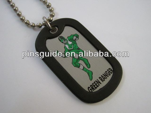 Promotion green ranger polishing iron custom dog tag
