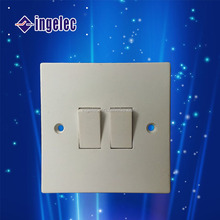 Yiwu No1 made in china Abs body wall switch socket for British or England 13a 2 gang switched sockets