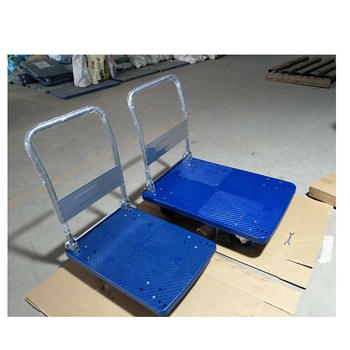 4Pcs  Cheap Stainless steel  Hard Plastic pallet truck