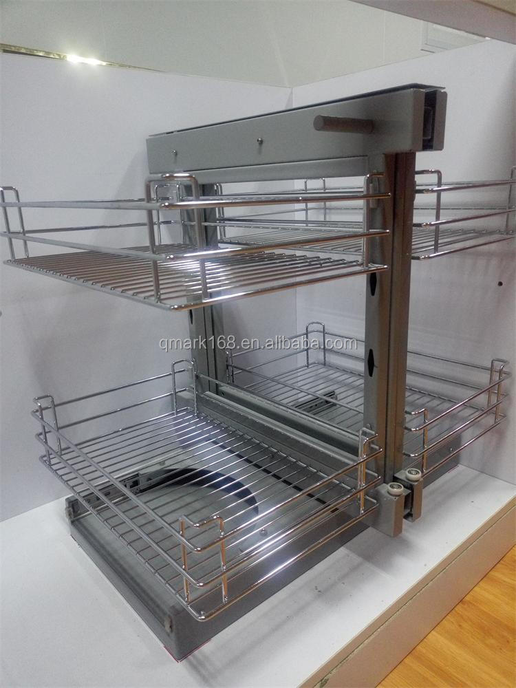 Metal kitchen cabinet magic corner basket wire basket - Magic corner cabinet ...