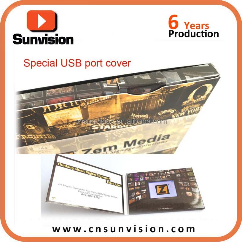 "OEM 4.3"" Business Promotion LCD Video Brochure Advertising Video Booklet"