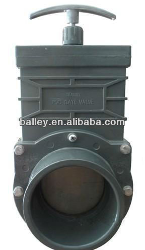 PVC socket ends gate valve